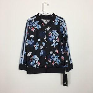 Girls adidas flora print track jacket
